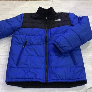 THE NORTH FACE boys reversible puffy coat XL 18-20